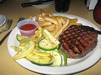 USA - Flagstaff AZ - Granny's Closet Restaurant Sirloin Steak Dinner (25 Apr 2009)